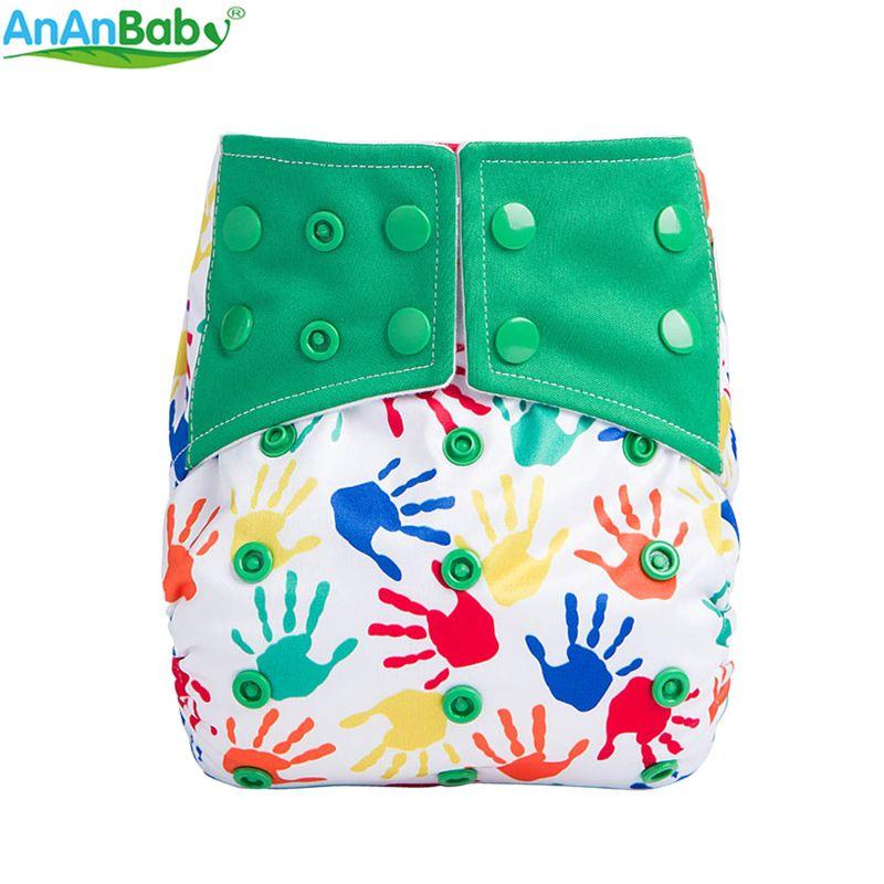 Nouveau modèle lavable couche-culotte en tissu couche réutilisable AIO bébé couches lavables taille réglable microfibre cousu Inserts pour bébé