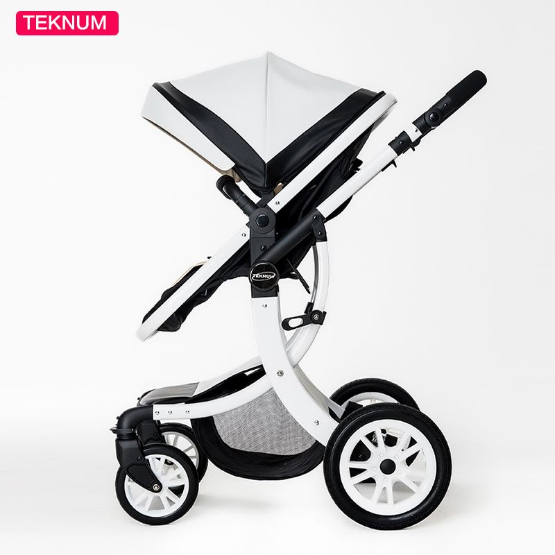 Teknum baby stroller folding baby child four seasons general newborn stroller baby brand leather stroller 2 in 1 baby car
