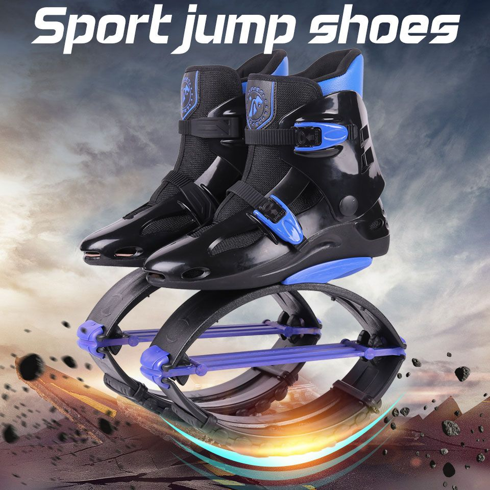 Fitness kangaroo jumping Shoes Unisex Outdoor Bounce Sports <font><b>Jump</b></font> Shoes Jumping Boots New Style Size 19/20