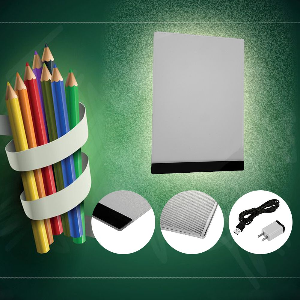 Quality Pratical 1.5W 5V A4 LED Light Pad Portable Copy Pad Drawing <font><b>Tablet</b></font> LED Tracing Painting Board Without Radiation