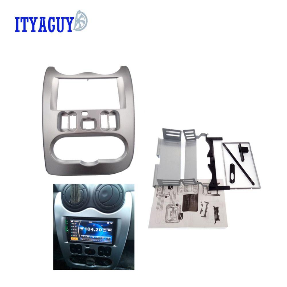 High quality Car Radio Fascia for RENAULT Logan Sandero DACIA duster facia frame panel dash adapter CD trim Bezel facia