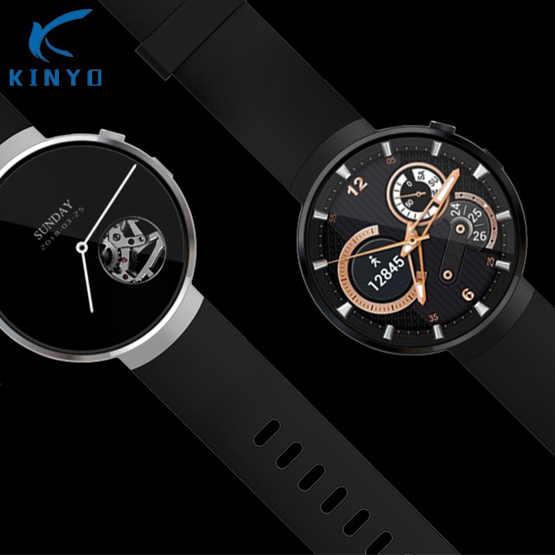 Kinyo 2018 Smartwatch AMOLED 1+16GB MT6737M LTE-4G network android 7.0 GPS heart tracker smart watch for men for xiaomi LEM7