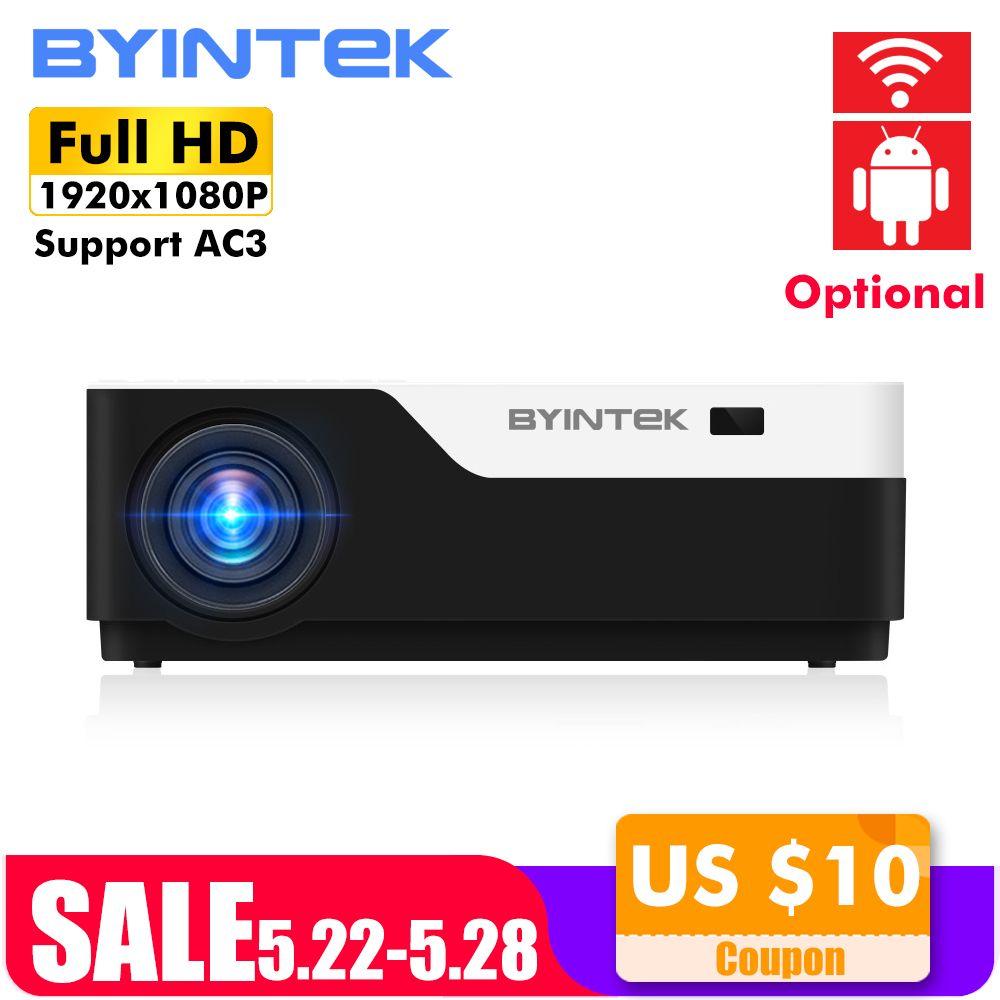 BYINTEK MOND K11 200 zoll 1920x1080 1080 P VOLLE HD LED Video Projektor mit HDMI USB Für Spiel film Kino Heimkino