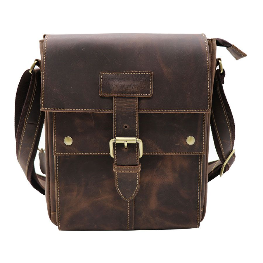 Brand New Genuine Leather Men's Shoulder Messenger Bag Casual Travel Business OL Packs 10