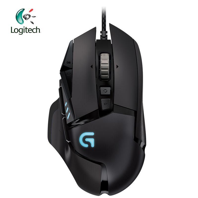Logitech Original G502 Gaming Maus Verdrahtete RGB Spiel Maus für Gamer Maus Unterstützung Desktop/Laptop Unterstützung Windows 10/8 /7