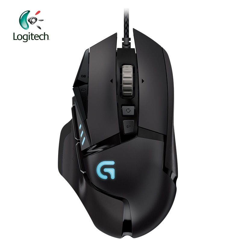 Logitech Original G502 Gaming Mouse Wired RGB Game Mouse for Mouse Gamer Support Desktop/ Laptop Support Windows 10/8/7
