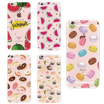 Food Fruit Coffee Pineapple Lemon Banana Cactus Strawberry Sushi Phone Case For Apple iPhone5 6 7Plus 8 8PLUS XS Max For SAMSUNG
