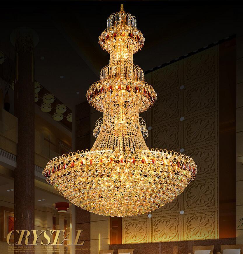 Große moderne led kronleuchter luxus K9 Gold kristall kronleuchter beleuchtung lüster de cristal Gehobenen Glanz kristall kronleuchter