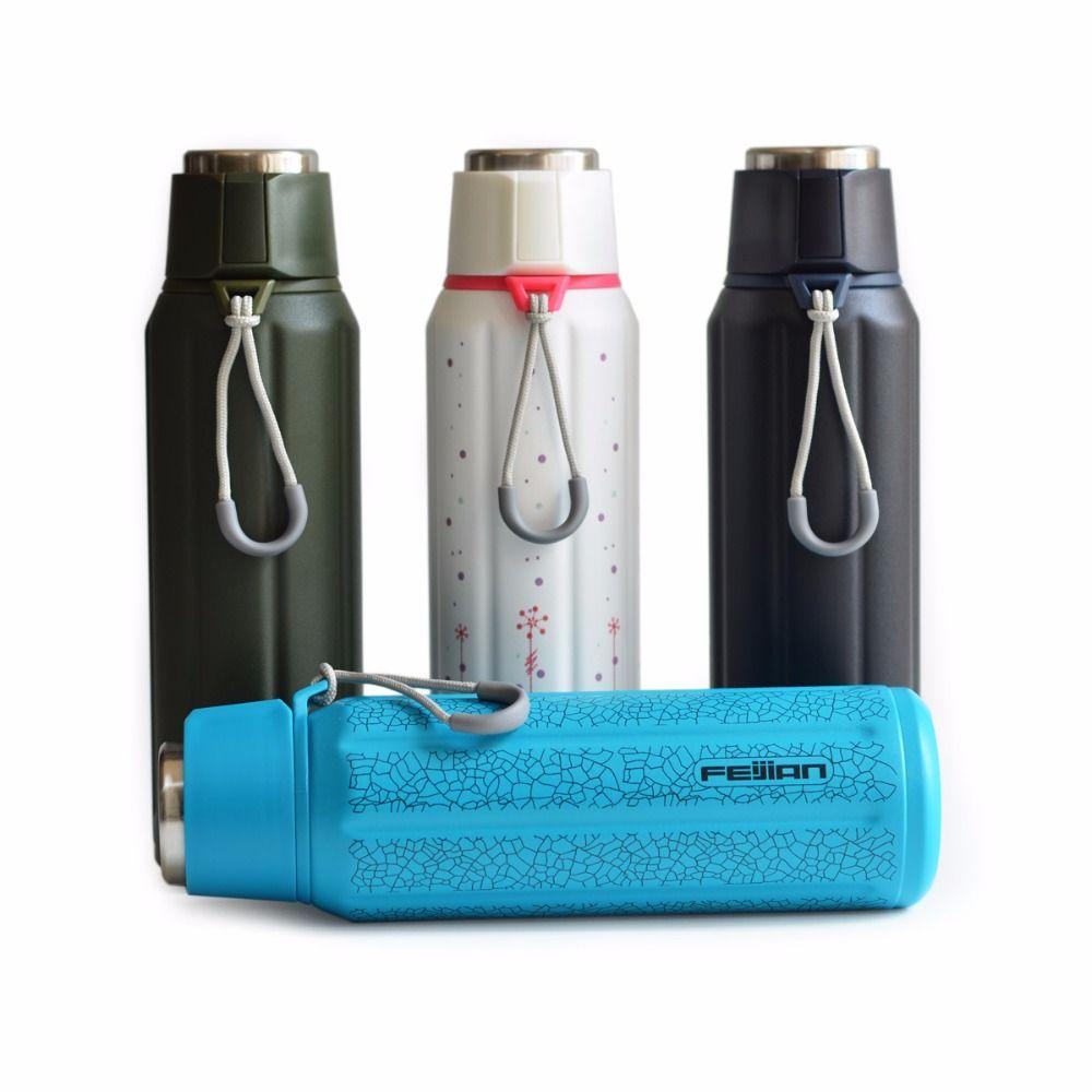 Feijian Премиум ТЕРМОС Двойные стенки с вакуумной изоляцией бутылки воды кружка Кофе чашка 600 мл 20 унц.