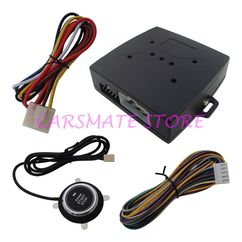 Classic Car Engine Start Stop Push Button System Working with Original Car Alarm for Remote Start Fit DC 12V Cars Carsmate