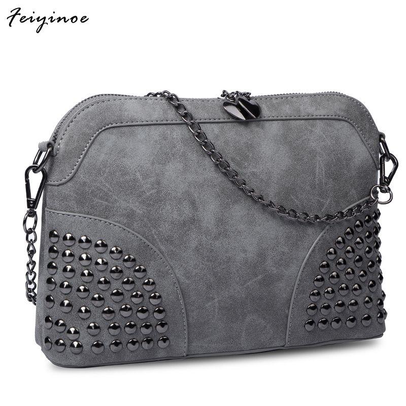Для женщин мешок vintage Shell цепи небольшая сумка скраб моды сумка женская сумочка