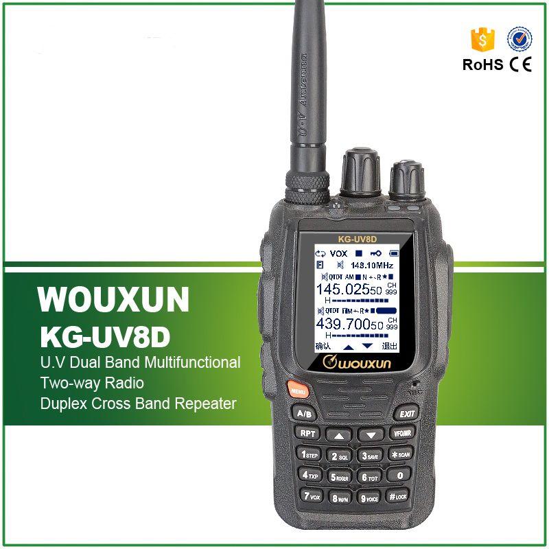Free Shipping New Full Duplex Cross Band 999 Channels WOUXUN KG-UV8D VHF& UHF Dual Band Two-way Radio