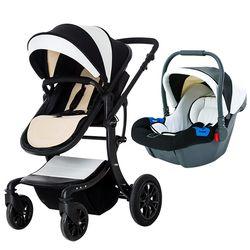 Haute qualité 3 en 1 Poussette de bébé En Cuir Bébé Landau bébé poussettes 3 En 1 Pour nouveau-né bébé 0-3 ans envoyer cadeaux