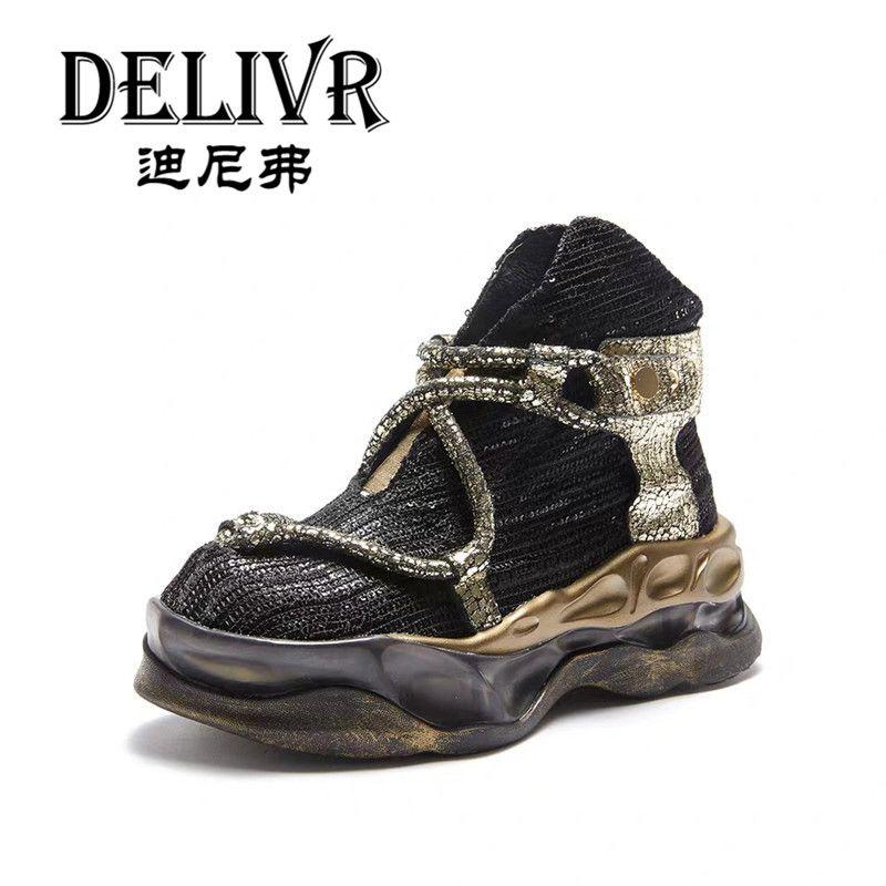 Delivr Casual Schuhe Damen High Top Frauen Casual Chunky Schuhe Plattform Dicke Sohle Mode Schoenen Women 2019 Schuhe Damen