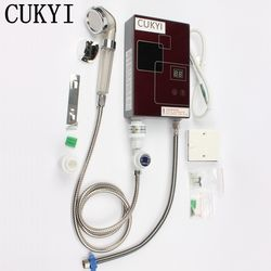 Cukyi calentador de agua eléctrico ultra fino temperatura constante baño de ducha hogar rápido velocidad calentador tipo de calor