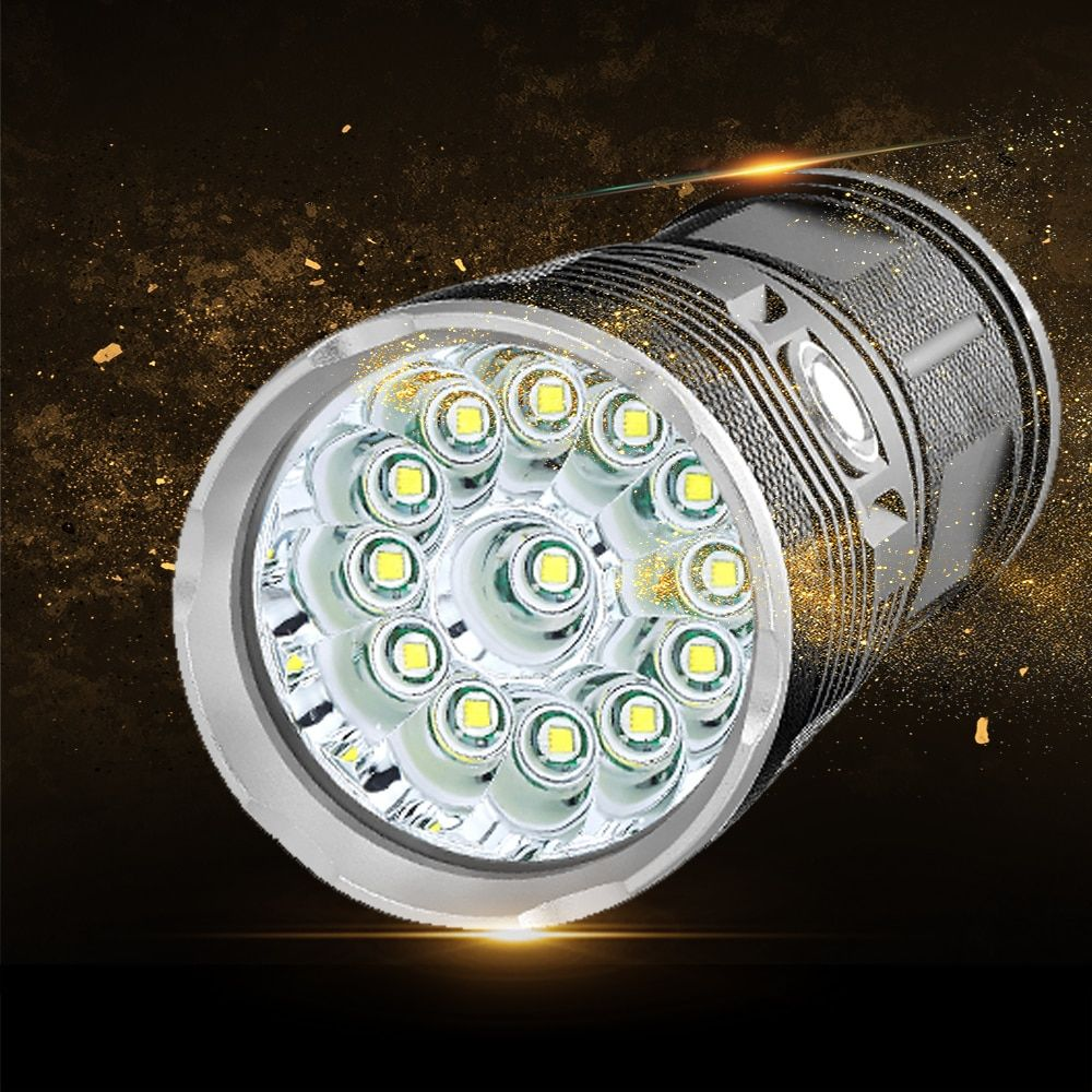 Ultra Powerful 48000Lums Flashlight 18*L T6 LED Outdoor Light Waterproof Floodlight Torch Lanterna Camping Hunting by 18650