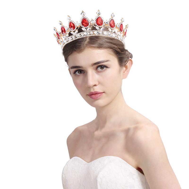Baroque élégant cristal mariée princesse couronne classique or reine diadèmes pour les femmes de mariage cheveux bijoux accessoires