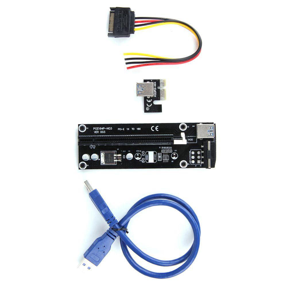 50 CM USB 3.0 PCI-E Express 1x à 16x Extender Riser carte Adaptateur SATA 15pin-4pin Câble D'alimentation pour Carte Mère et graphiques cartes