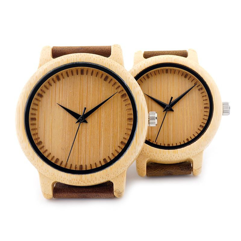 BOBO <font><b>BIRD</b></font> A09 Ladies Casual Quartz Watches Natural Bamboo Watch Top Brand Unique Watches For Couple in Gift Box
