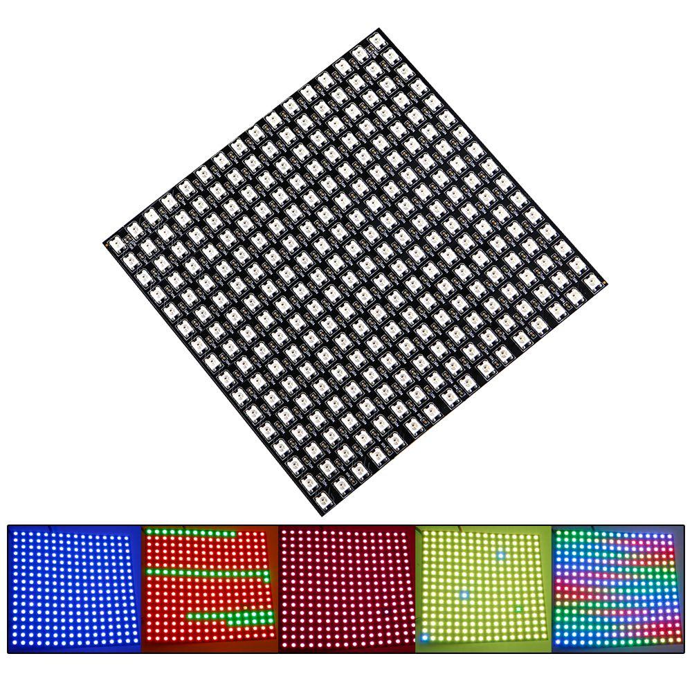 RGB Led Matrix Panel WS2812 5050 SMD 16*16 Pixels 256 Pixels Colorful Digital Flexible LED Panel DC5V JQ