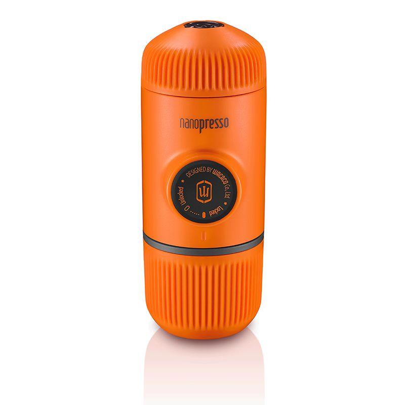 Wacaco Nanopresso Tragbare Espresso Maker, Kaffee Maschine, Upgrade-Version von Minipresso, 18 Bar Druck, orange Patrol Edition.