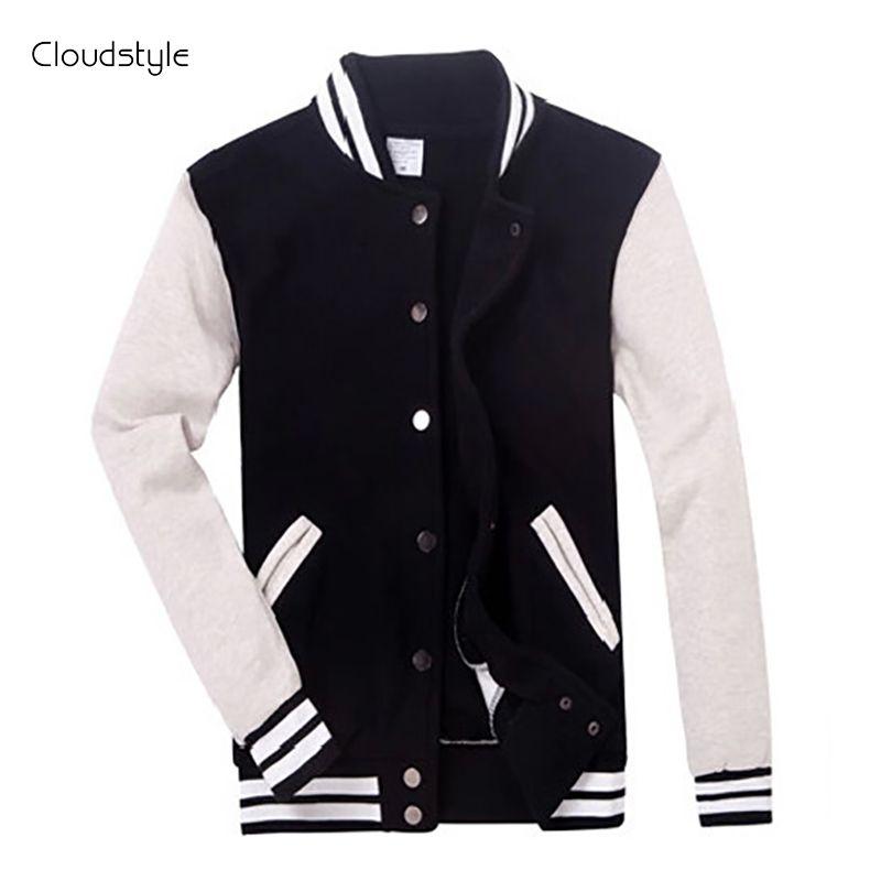 2017 брендовая одежда Бейсбол куртка Для мужчин Толстовка Колледж Спортивная Куртки Повседневное Slim Fit Куртка Для мужчин S Костюмы 10 Цвета