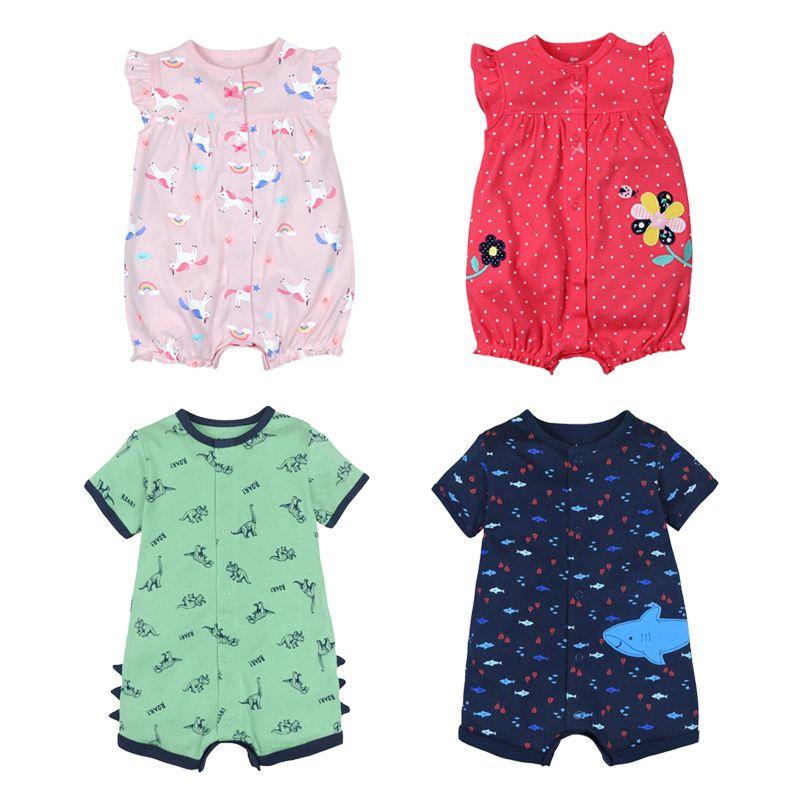 Bébé barboteuse filles mode d'été à manches courtes bébé vêtements enfant en bas âge Roupas vêtements nouveau-né bébé vêtements infantile combinaison Animal