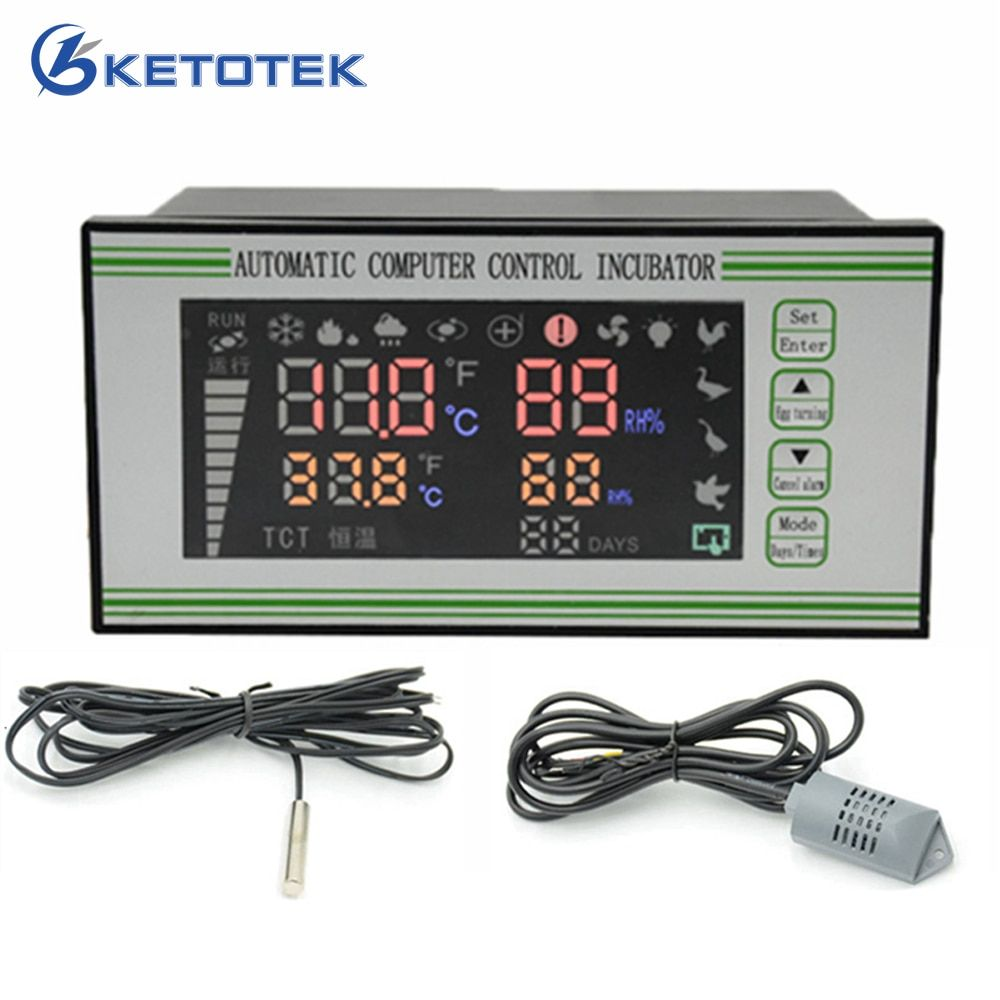 Automatic Intelligent Temperature Humidity Controller for Egg Incubator Air Thermostat Regulator Hygrometer Control with Sensors