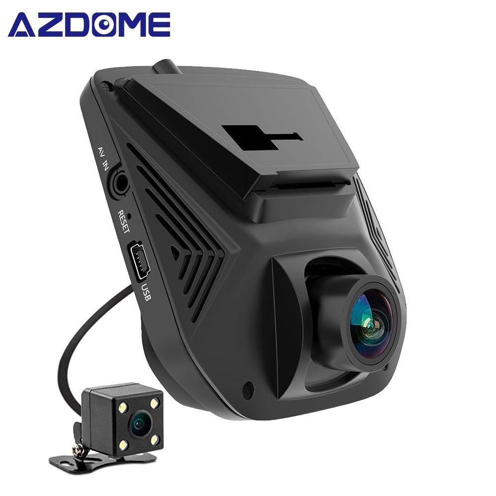 AZDOME A305 double lentille FHD 1080P voiture DVR Novatek 96658 écran LCD Sony IMX323 voiture enregistreur vidéo Dash Cam avec caméra arrière