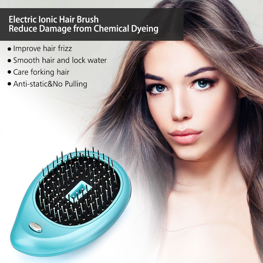 Portable Electric Ionic Hairbrush Hair Massage Comb Hair Magic Beauty Brush Comb Massage Home Travel Hair Styling Tool