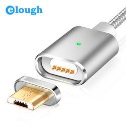 Elough E03 Micro USB Cable cargador magnético para Xiaomi Huawei Android Teléfono Móvil carga rápida Microusb Cable de datos