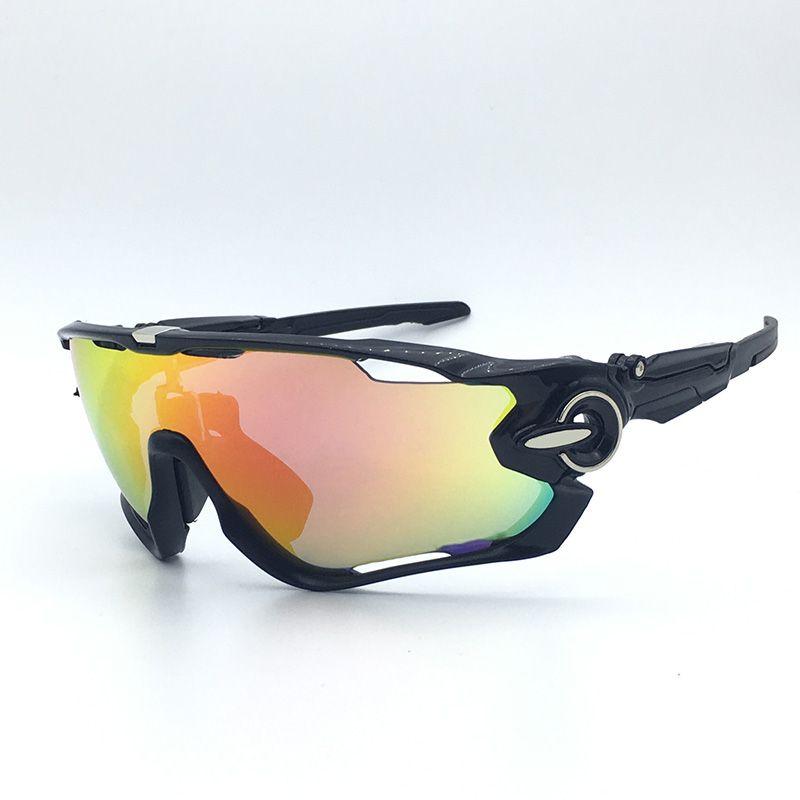 2018 Polarized Cycling Glasses Goggles Racing 5 <font><b>Lens</b></font> Cycling Sunglasses Men UV400 Cycling Eyewear Sport Driving Bike Sun Glasses