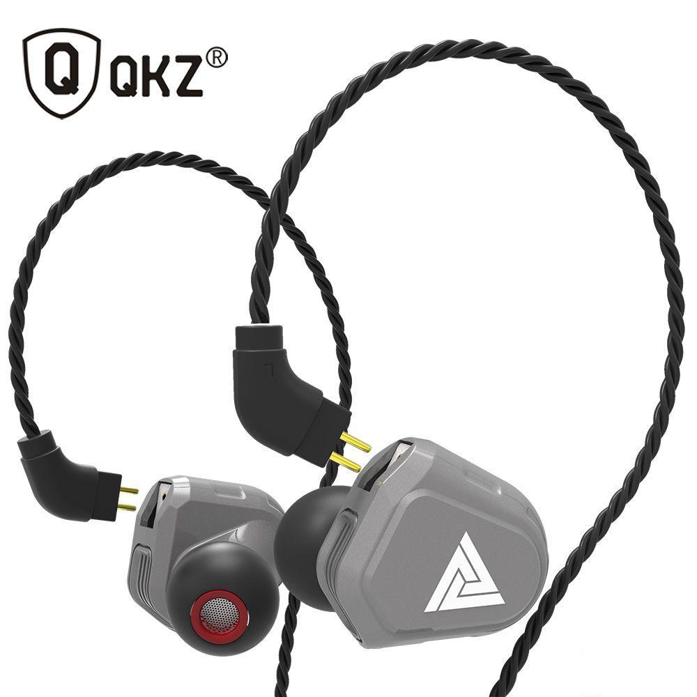 Oeiginal QKZ VK2 2 Dynamic Hybrid In Ear Earphone With Mic Earphones HIFI DJ Monito Running Sport Earphones 2 Drive Unit Headset