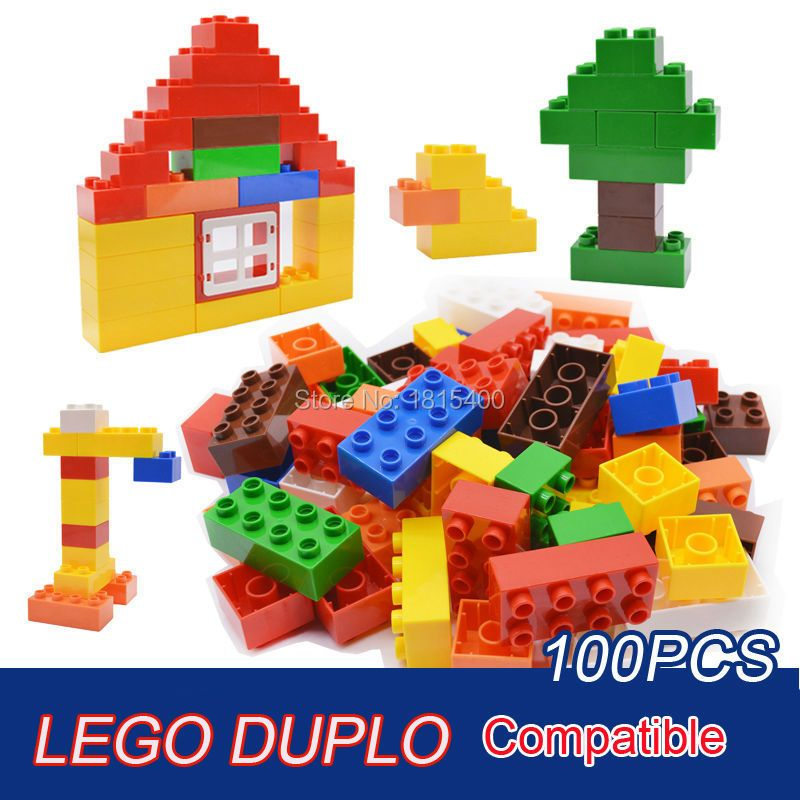 Bébé jouets grande taille blocs de construction en plastique assemblage modèle grandes briques apprentissage jouets éducatifs pour 3 ans 100 pièces/ensemble