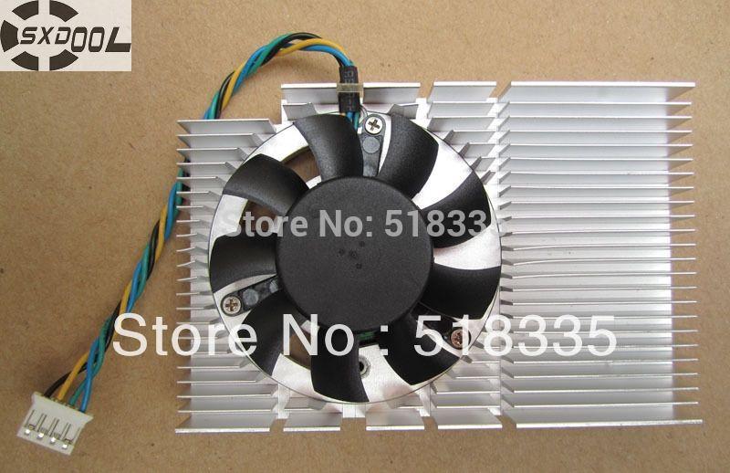 SXDOOL New original graphics card heat sink thickness of 13mm length 83mm width 55mm 4P plug(not include the heatsink)