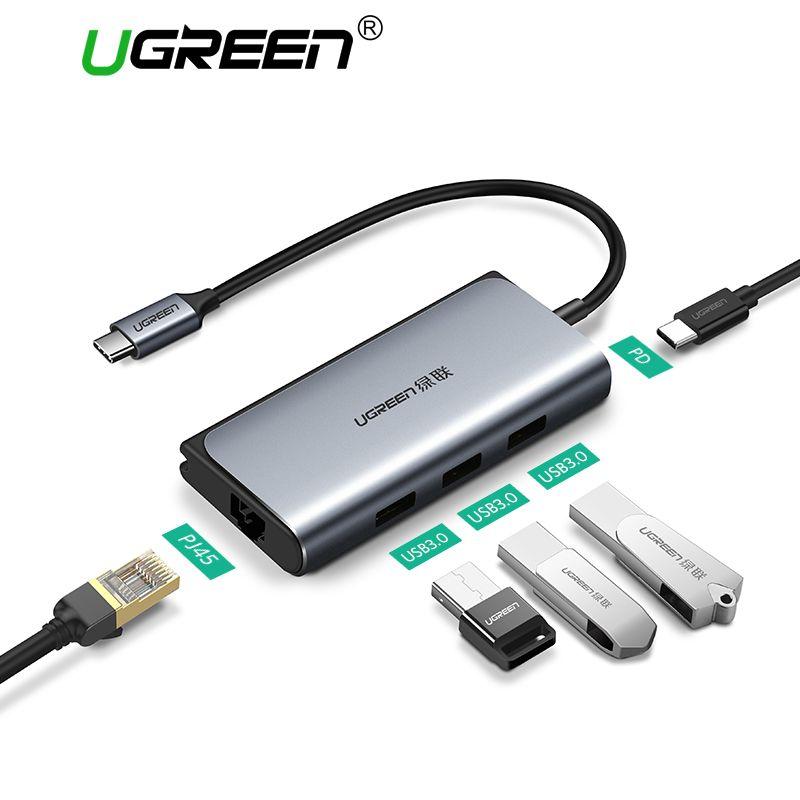 Ugreen USB C Ethernet USB-C to RJ45 Lan <font><b>Adapter</b></font> for MacBook Pro Samsung Galaxy S9 Oneplus 6 Type-C Network Card USB Ethernet