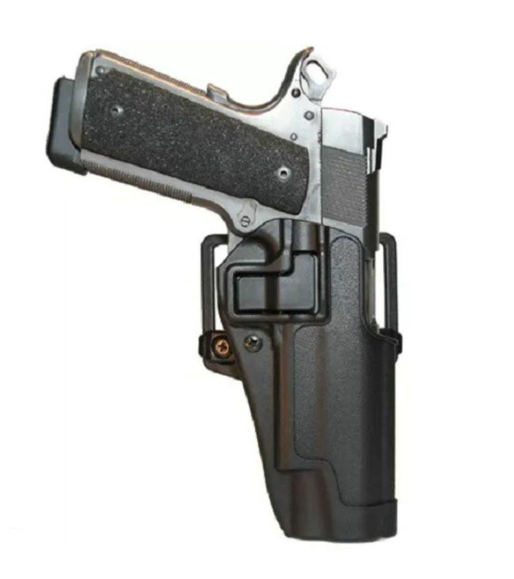 Schwarz rechte hand militärische taktische jagd Gun Gürtel holster Gürtel Holster w/Paddle passt Colt 1911