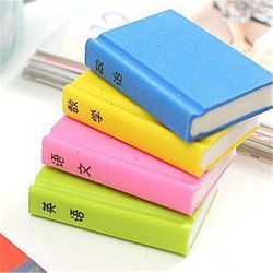 DL D628 Korean stationery creative rubber Book subjects lovely book modeling eraser learning supplies Stationery office supplies