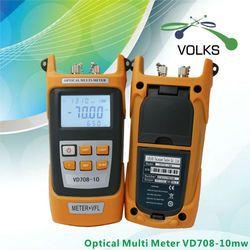 2 en 1 Fibra medidor de potencia óptica con 10 km fuente láser Localizador Visual de fallas vd708-10mw