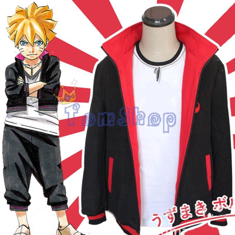 Anime Naruto BORUTO UZUMAKI Cosplay Costumes Jacket Coat Warm Zip Sweatshirt