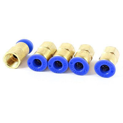 1/8 PT Female Thread to 6mm Air Pneumatic Pipe Straight Quick Coupler 5 Pieces