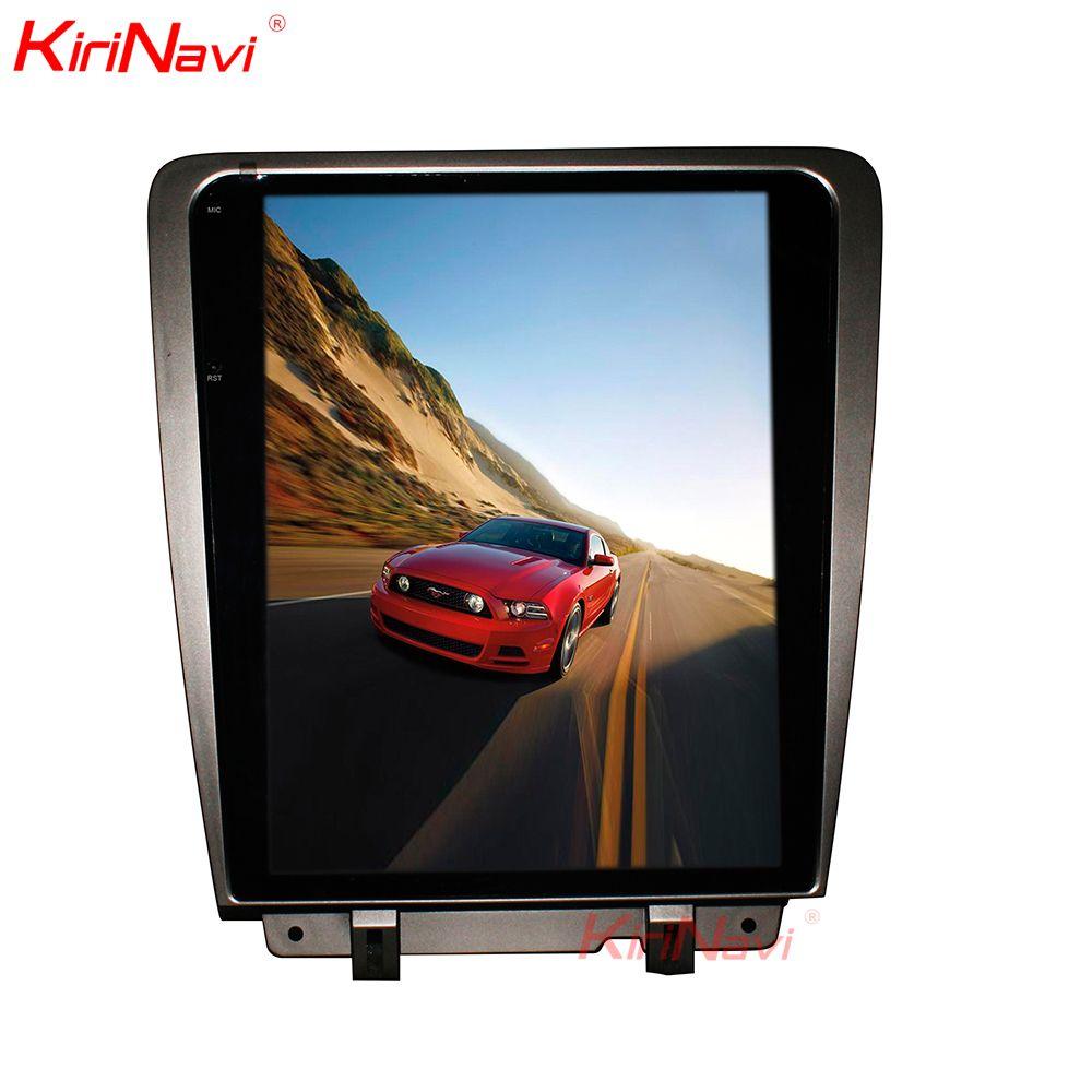 KiriNavi Android 7.1 Vertikale Bildschirm Tesla Stil 12,1 Zoll Auto Radio Für Ford Mustang GPS Navigation Touchscreen Bluetooth