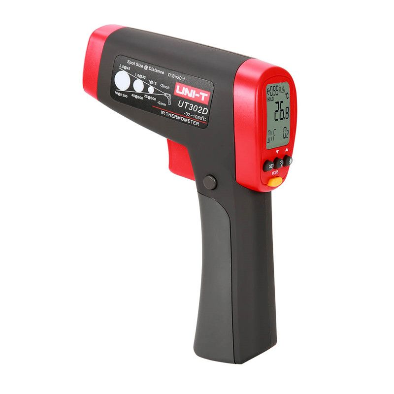 UNI-T UT302D Digital IR Thermometer Gun Non-contract -32~1050C Handheld Industrial Infrared Thermometers Temperature Gauge