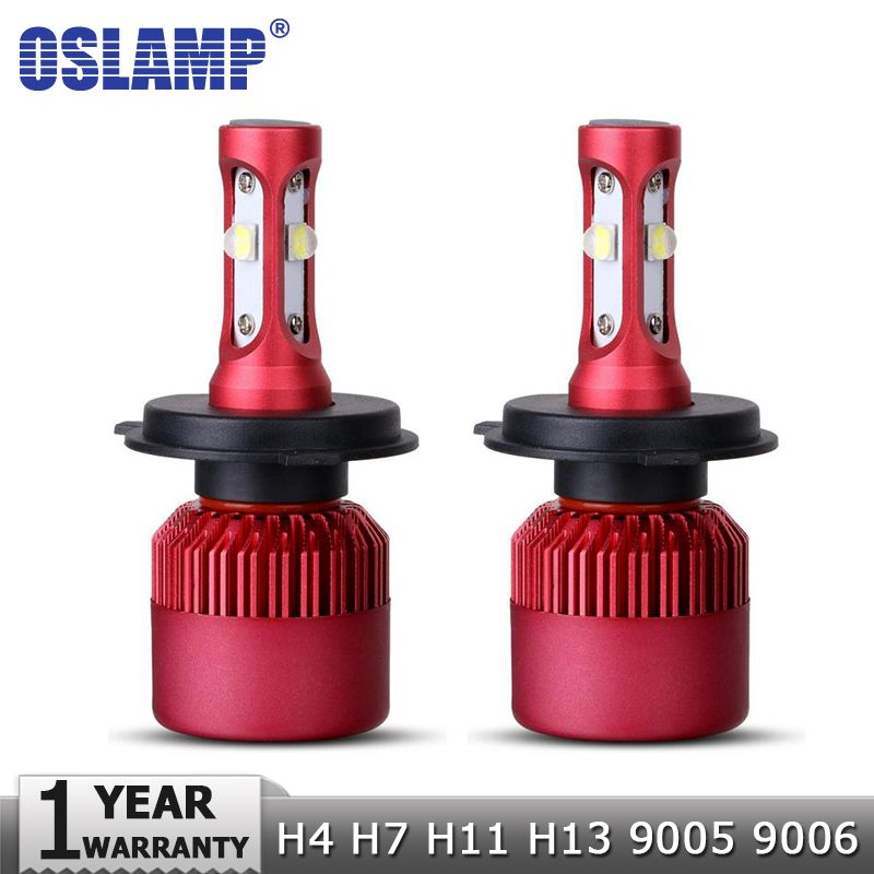 Oslamp H4 H7 H11 H13 9005 9006 SMD <font><b>Chips</b></font> 80W LED Car Headlight Bulb Hi-Lo Beam 9600lm 6500K Auto Led Headlamp Fog Light 12V 24V