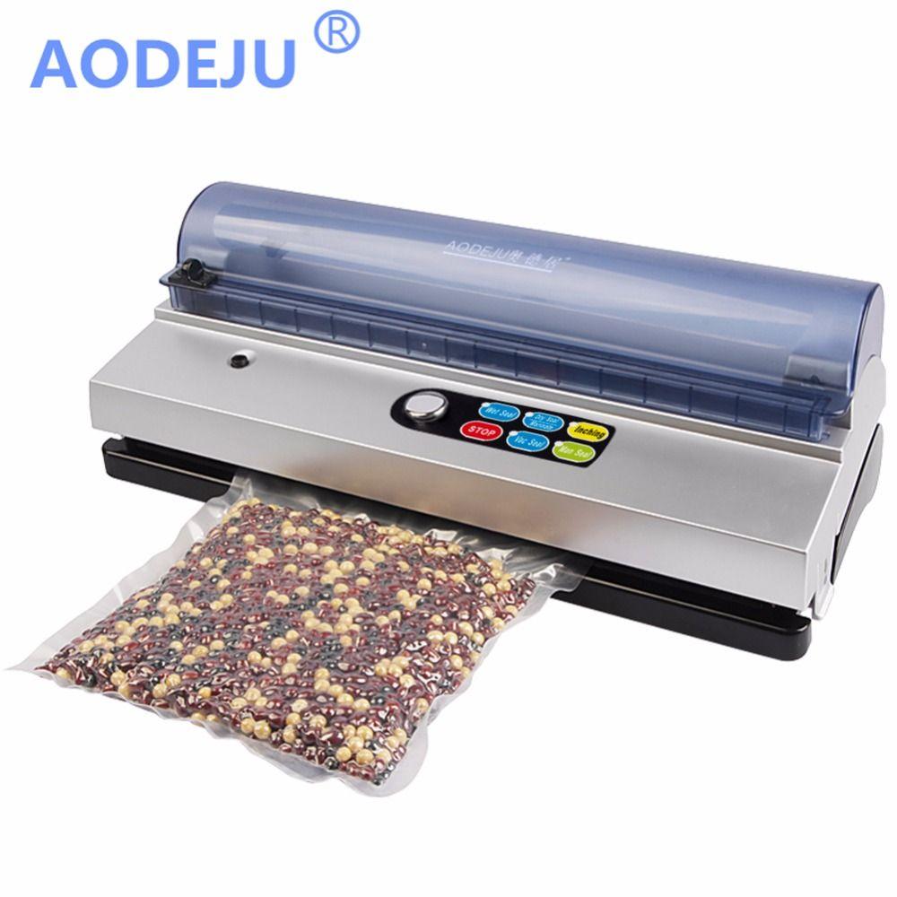 AODEJU-automatisation complète petit commercial vide alimentaire scellant machine d'emballage sous vide famille dépenses vide machine sous vide scellant