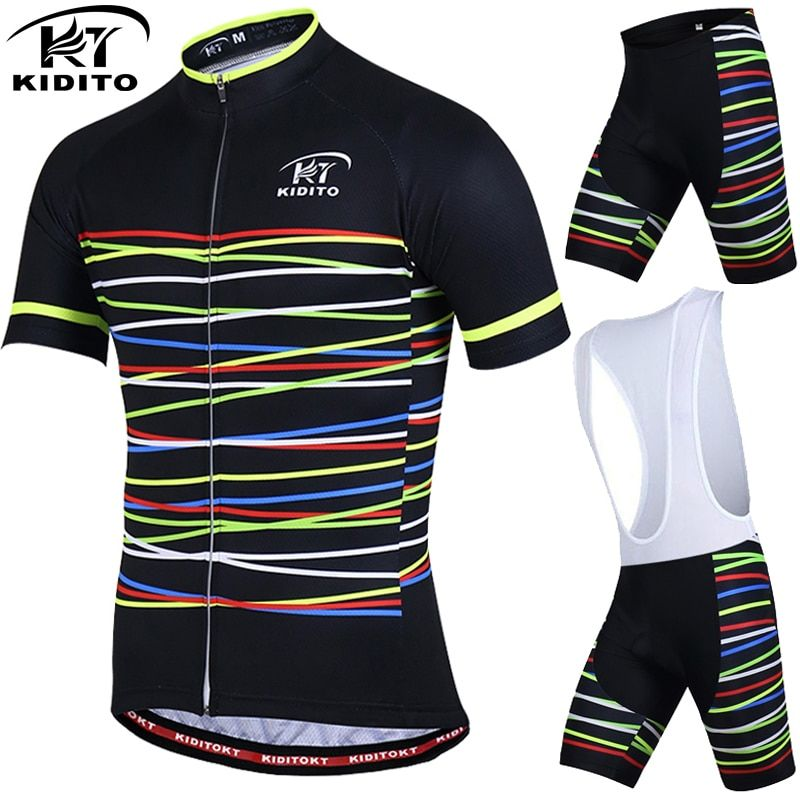 KIDITOKT Breathable Pro Cycling Clothing Cycling Sets Mountain Bicycle <font><b>Clothes</b></font> Cycling Jersey Set MTB Bike Sportwears