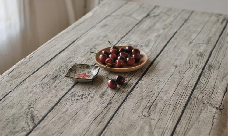 Housse de Table nappe coton lin tissu Vintage cuisine bois grain naturel