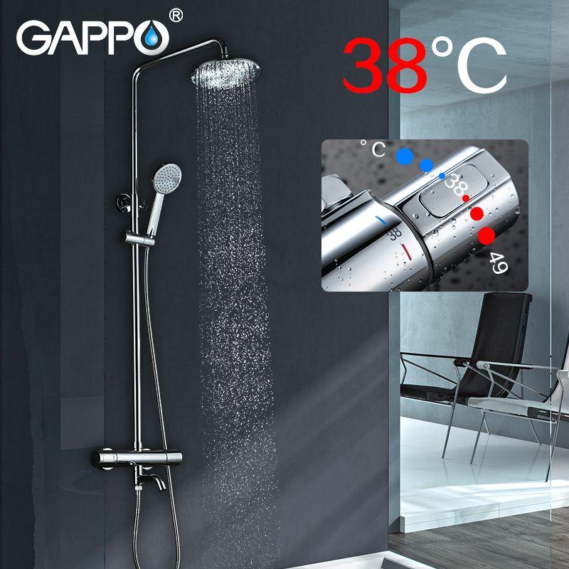GAPPO Sanitary Ware Suite Brass faucet set waterfall bathtub shower faucet Bath Shower tap basin shower wall mixer taps