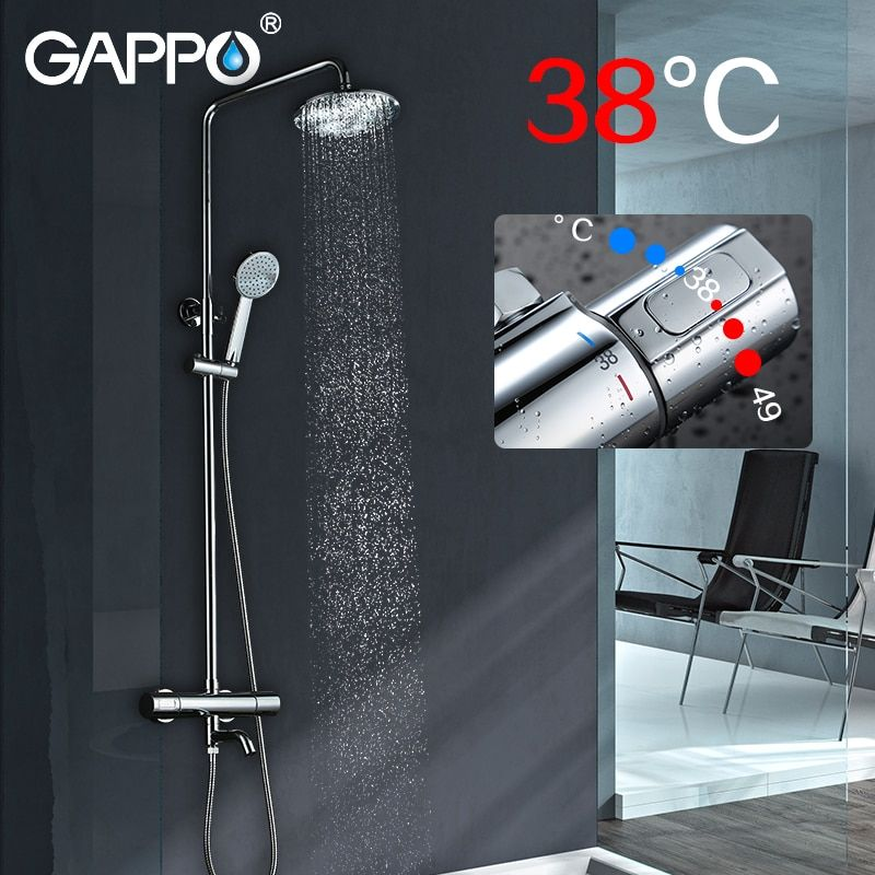 GAPPO Sanitary Ware Suite Brass faucet set waterfall bathtub shower faucet Bath Shower tap basin shower wall mixer taps