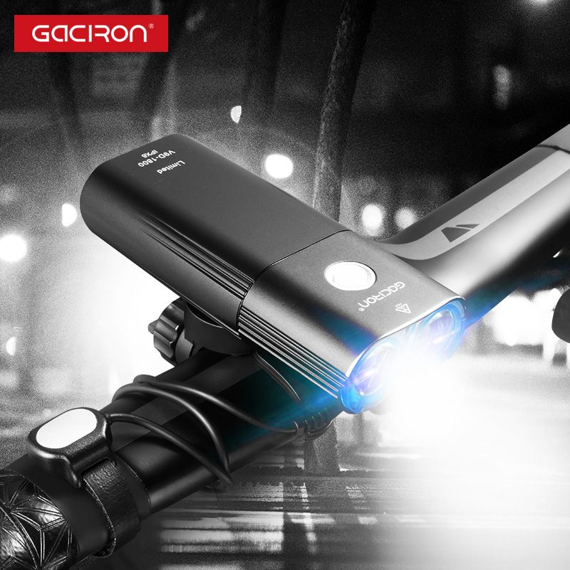 GACIRON V9D-1800 Headlight 1800 lumens Bicycle Front light Waterproof USB Rechargeable 6700mAh Bike light Accessories